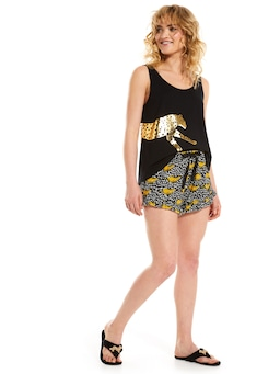 Cheetah Flutter Mini Short
