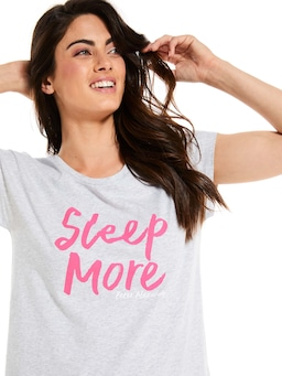 Sleep More Cap Sleeve Tee