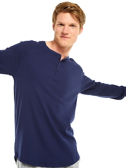 P.A. Classic Waffle Long Sleeve Henley
