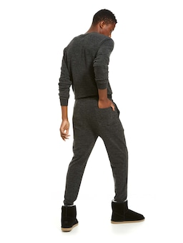 Charcoal Heather Knit Fuzzy Jogger