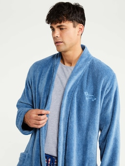 Dusty Blue Fleece Gown