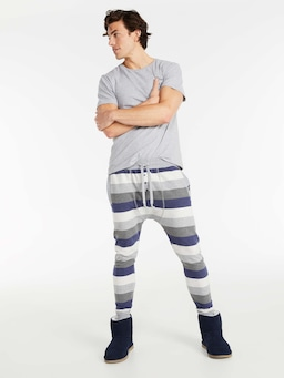 Marle Stripe Fleece Jogger Pj Pant