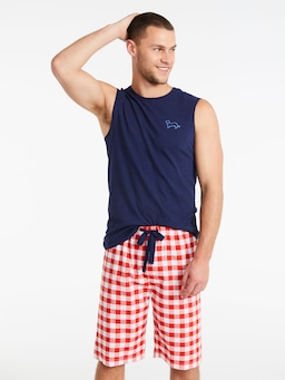 Gingham Sleep Short