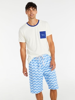 Chevron Sleep Short