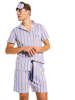 Harold Stripe Short Sleeve Pj Set