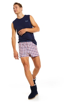 Perry Gingham Boxer Short