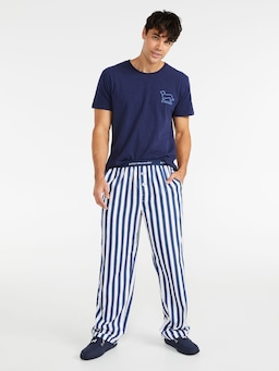 Simple Stripe Classic Pj Pant