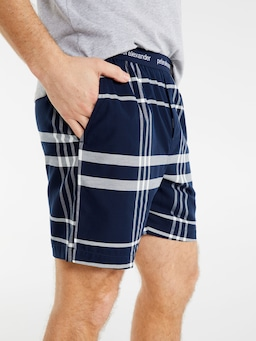 Windowpane Check Mid Short