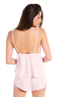 Pretty Pink Knit Cami Pj Set