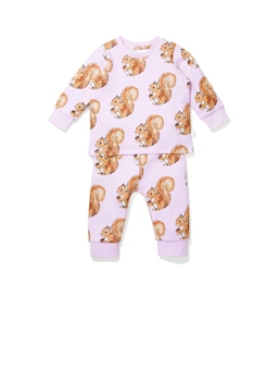 Baby Pink Squirrel Pj Set