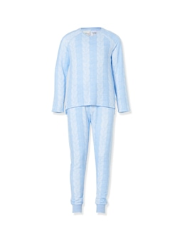 Girls Fuzzy Cable Knit Pj Set
