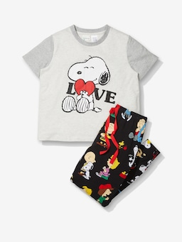 Girls Snoopy Long Pj Set