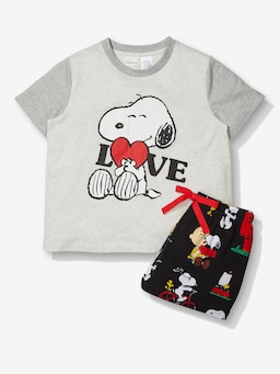 Girls Snoopy Shortie Pj Set