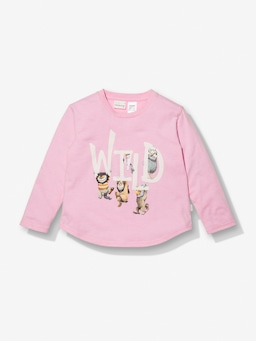 Jnr Girls Where The Wild Things Are Pink Stripe Pj Set