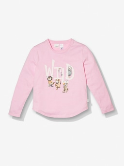 Girls Where The Wild Things Are Pink Stripe Pj Set