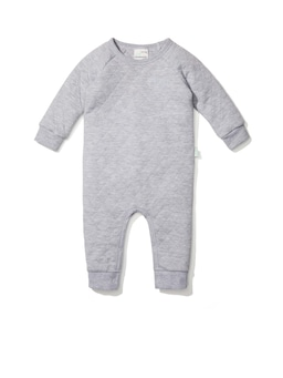 Baby Grey Quilted Onesie