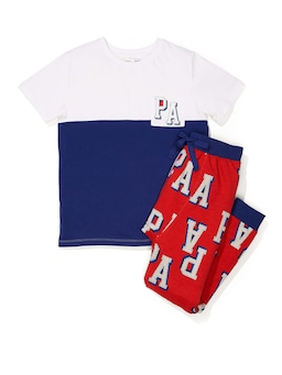 Boys P.A. Patch Short Sleeve Pj Set