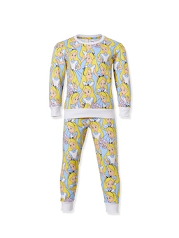 Jnr Girls Disney Alice In Wonderland Long Pj Set
