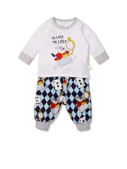 Baby Disney White Rabbit Flannelette Pj Set