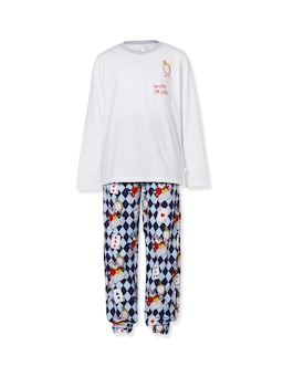 Boys Disney White Rabbit Flannelette Pj Set