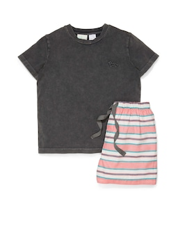 Jnr Boys Surf Stripe Pj Set