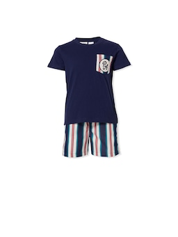 Jnr Boys Classic Stripe Pj Set