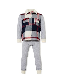Jnr Boys Check Flannelette Pj Set