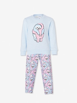 Jnr Girls Hugging Sloth Long Pj Set