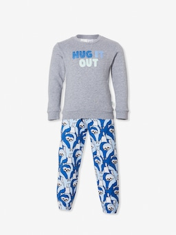 Jnr Boys Hugging Sloth Pj Set