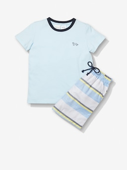 Jnr Boys Fluro Stripe Pj Set