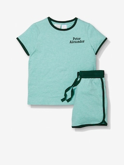 Jnr Boys Green Sports Pj Set