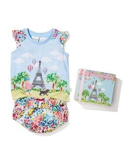 Baby Girls Meet Me In Paris Pj Set