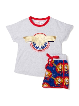Jnr Girls Captain Marvel Pj Set