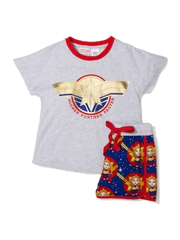 Girls Captain Marvel Pj Set