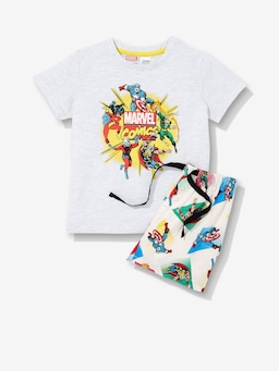 Jnr Boys Marvel Hero Pj Set