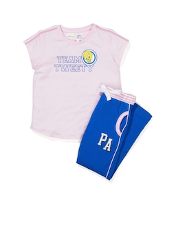 Jnr Girls Tweety Short Sleeve Pj Set