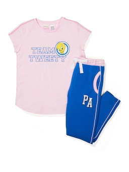 Girls Tweety Short Sleeve Pj Set