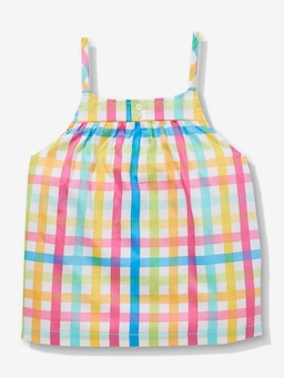 Girls Rainbow Gingham Pj Set