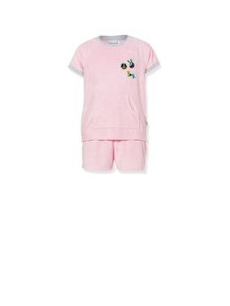 Girls Peace Terry Towelling Pj Set