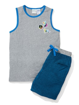 Boys Peace Terry Towelling Pj Set
