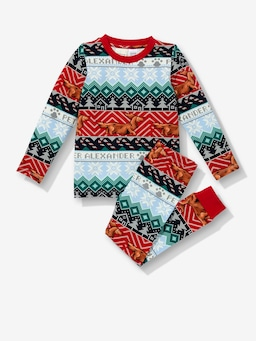 Jnr Kids Fair Isle Pj Set