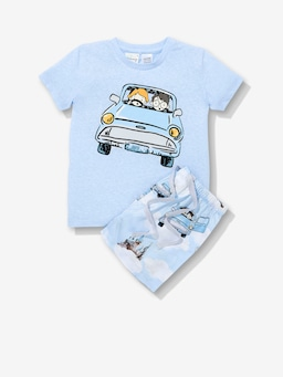 Jnr Kids Harry Potter Flying Car Pj Set