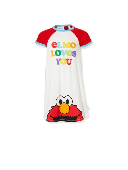 Jnr Girls Sesame Street Elmo Nightie
