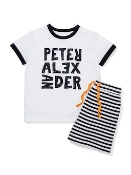 Jnr Boys Sailor Stripe Pj Set