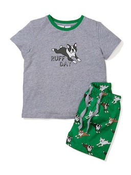 Jnr Boys Boston Dog Pj Set