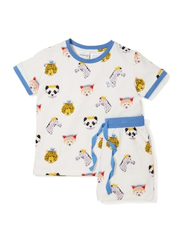 Jnr Boys Animal King Pj Set