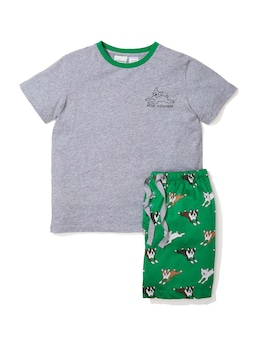 Boys Boston Dog Pj Set