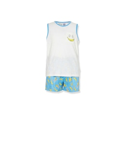 Boys Banana Tank Pj Set
