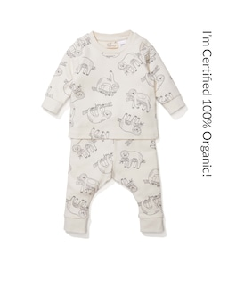 Baby 100% Organic Sloth Pj Set