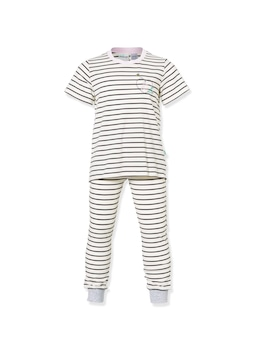 Jnr Girls Blue Stripe Pj Set